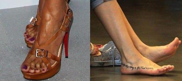 I piedi dei vip: da Caterina Balivo a Monica Bellucci
