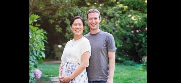 Facebook, Mark Zuckerberg aspetta un figlio da Priscilla Chan