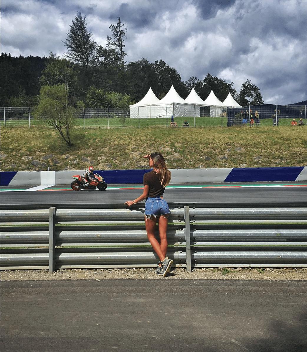 Belen a bordo pista MotoGp