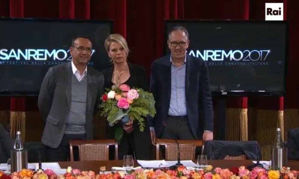 Sanremo 2017: è ufficiale, Maria De Filippi e Carlo Conti alla conduzione [FOTO]