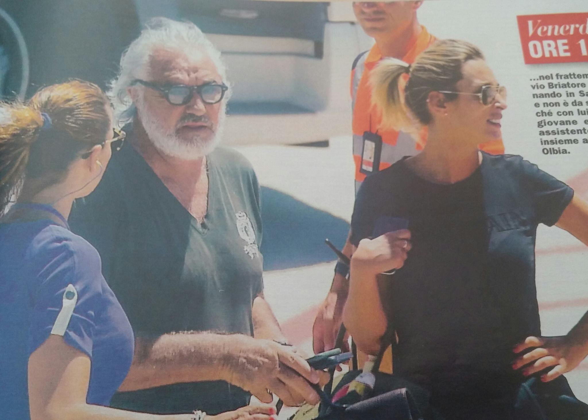 Flavio Briatore e Elisabetta Gregoraci in crisi: lui sempre solo al Billionaire