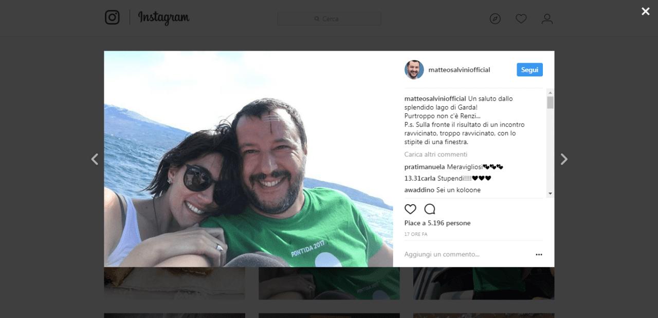 Matteo Salvini e Elisa Isoardi: la crisi è acqua passata