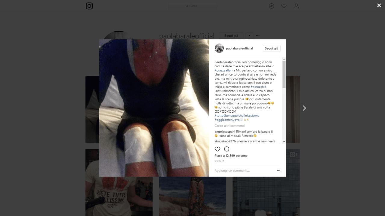 Incidente per Paola Barale: il messaggio sui Instagram