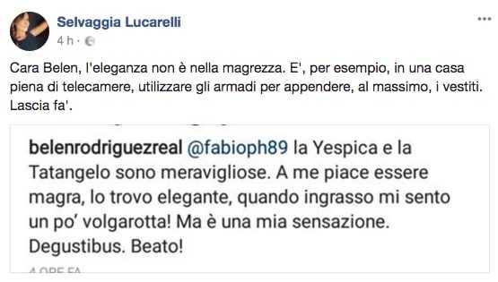 Selvaggia Lucarelli attacca Belen: