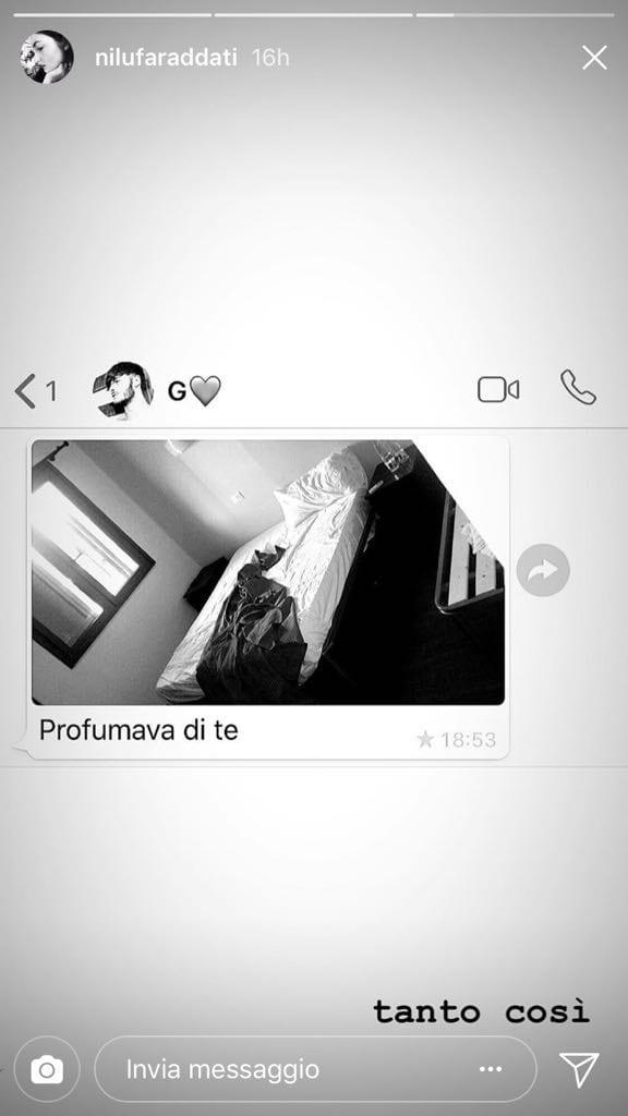 Giordano mazzocchi e la dedica shock per nilufar addati - Instagram messaggio letto ...