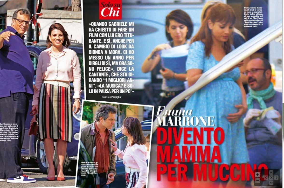 Emma Marrone con il pancione per Muccino