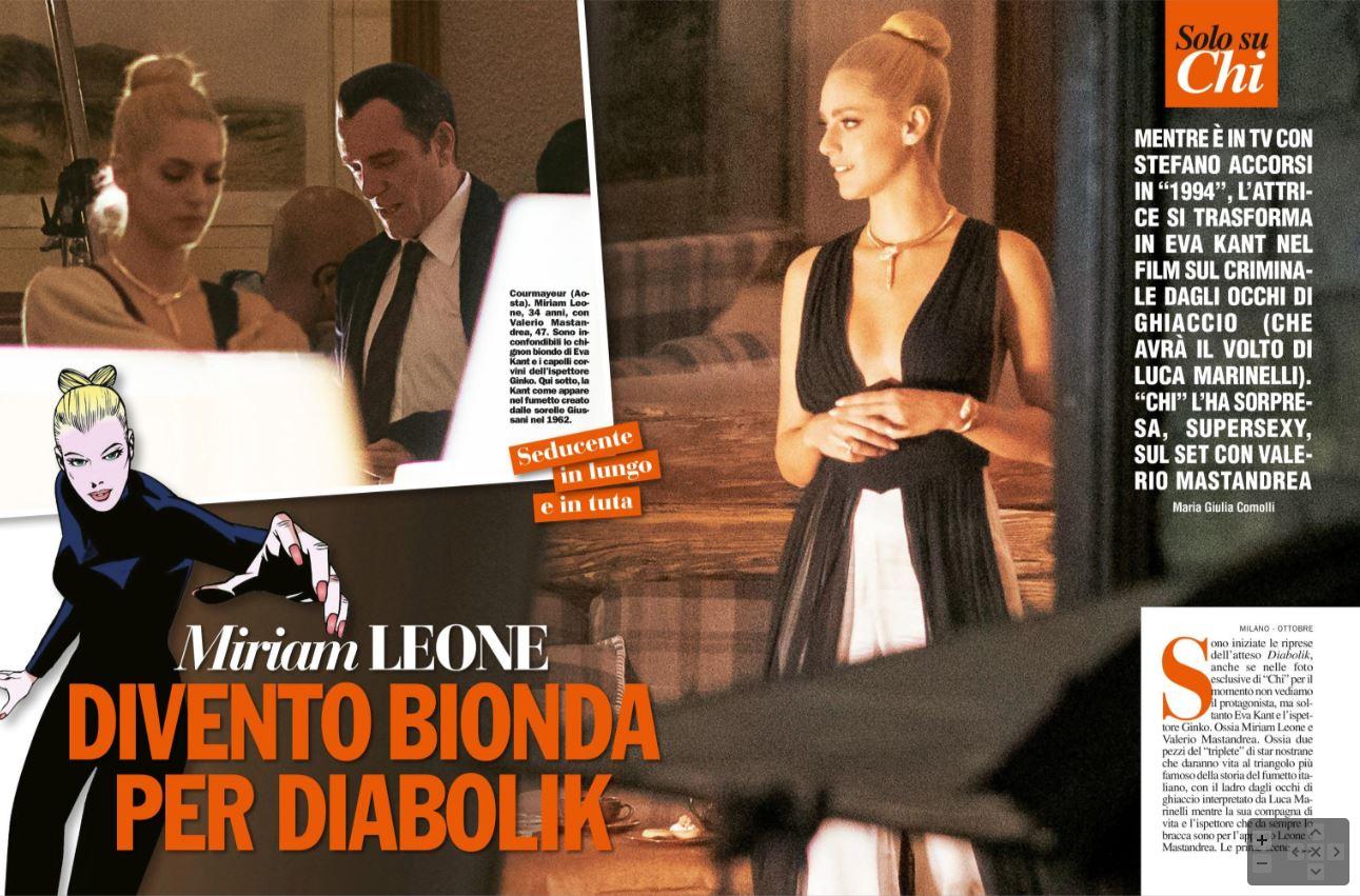Diabolik: Ecco Miriam Leone nei panni di Eva Kent ed è bellissima