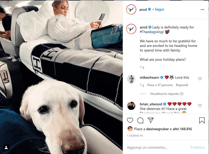 Jennifer Lopez criticata per una foto sul Jet privato in tempo di pandemia