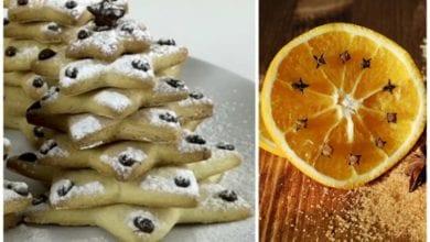 biscotti alberi natalizi arancia