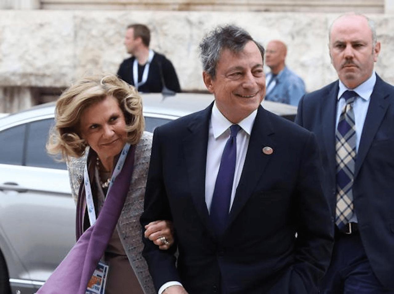 Serena Cappello e Mario Draghi