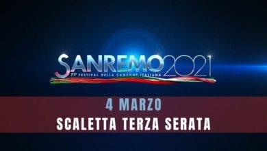 Sanremo scaletta terza serata giovedì 4 marzo