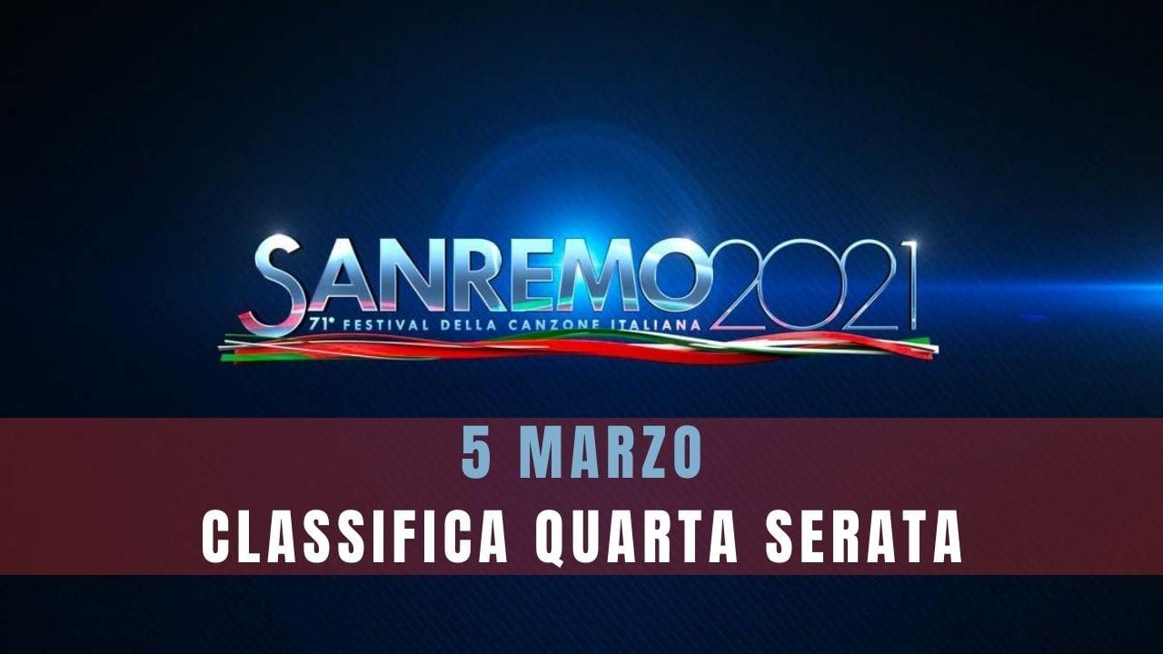 Sanremo classifica quarta puntata