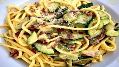 Carbonara zucchine pancetta