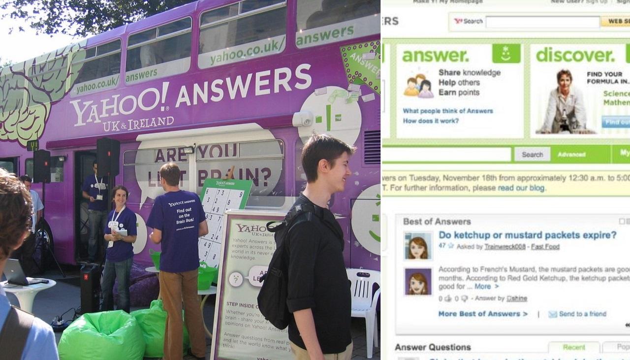 Yahoo Answers chiude domande strane
