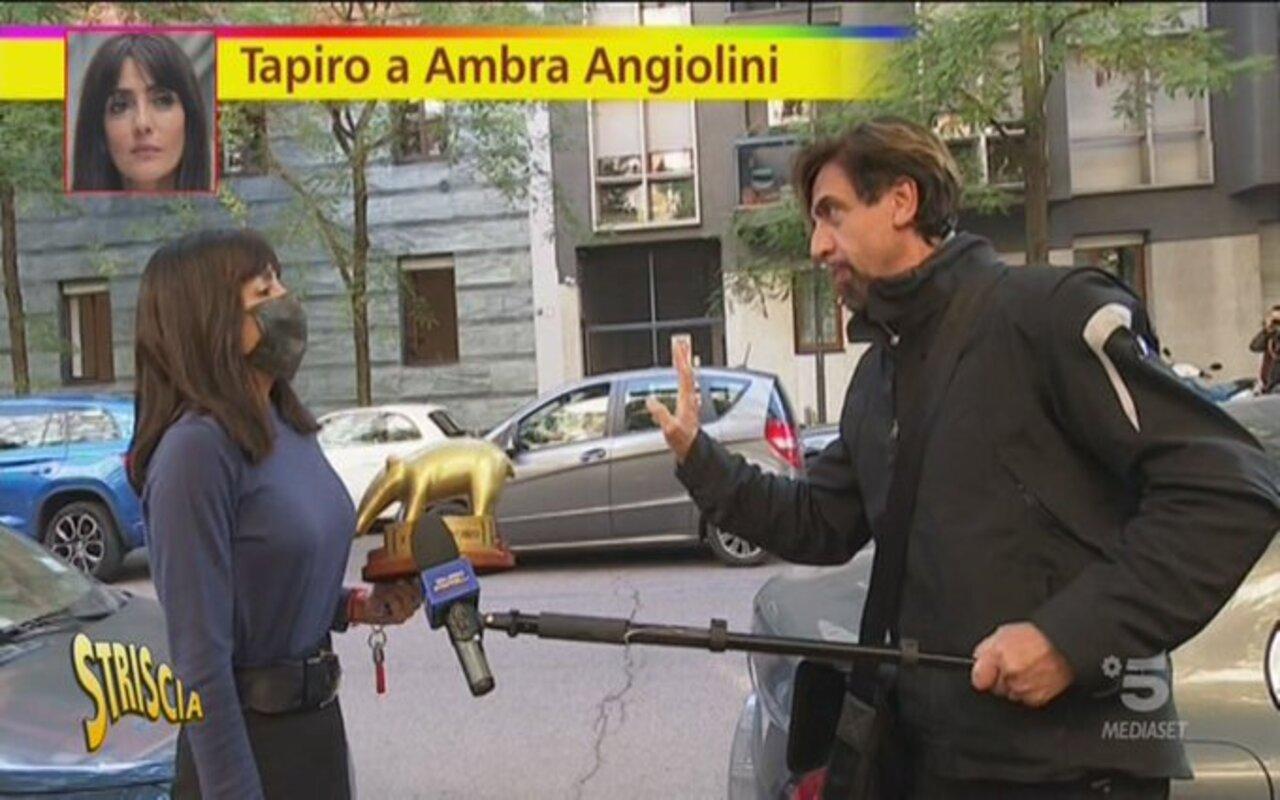 Ambra Angiolini Striscia la notizia